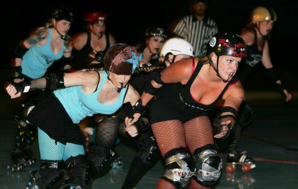 Roller Derby Girls in Action